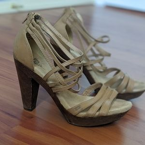 Very Volatile Strappy Leather Heels